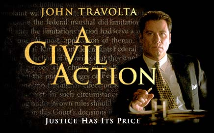 a civil action movie notes A civil action is a non-fiction book by jonathan harr about a water contamination case in woburn, massachusetts, in the 1980sthe book became a best-seller and won the national book critics circle award for nonfiction.
